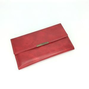 Vintage red wallet checkbook address unused